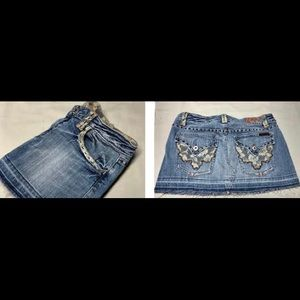 Miss Me Jean Mini Skirt